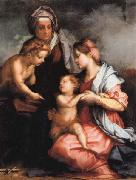 Andrea del Sarto Madonna and Child wiht SS.Elizabeth and the Young john oil painting picture wholesale