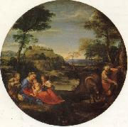 Annibale Carracci The Holy Family Rests on the Fight into Egypt oil painting picture wholesale