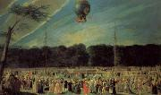 Antonio Carnicero The  Ascent of a Montgolfier Balloon oil painting