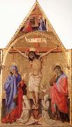Antonio Fiorentino Crucifixion with Madonna and St.John oil painting artist