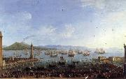 Antonio Joli The Embarkation of Charles III in the Port of Naples oil