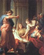BATONI, Pompeo Achilles at the Court of Lycomedes oil