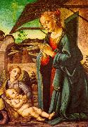 BOTTICINI, Francesco The Madonna Adoring the Child Jesus oil painting artist