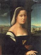 BUGIARDINI, Giuliano Portrait of a Woman oil