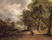 Barend Cornelis Koekkoek View of a Park oil