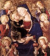 CAPORALI, Bartolomeo Virgin and Child with Angels f oil