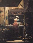 CRESPI, Giuseppe Maria The Scullery Maid oil painting picture wholesale