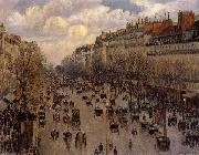 Camille Pissarro Boulevard Montaartre oil painting picture wholesale