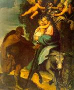 Carducci, Bartolommeo The Flight into Egypt oil