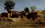 Carlos de Haes Tileworks in the Principe Pio Mountains oil painting