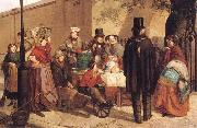 Charles Hunt A Coffee Stall Westminster oil painting picture wholesale