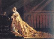 Charles Robert Leslie Queen Victoria in her Coronation Robes oil painting