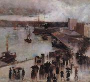 Charles conder Departure of the SS Orient from Circular Quay oil painting artist