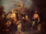 Charles de Lafosse The Temptation of Christ oil painting artist