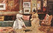 Chase, William Merritt A Friendly Visit oil painting picture wholesale