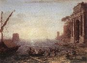 Claude Lorrain A Seaport at Sunrise oil painting picture wholesale