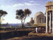 Claude Lorrain Landscape with Aeneas at Delos oil painting picture wholesale