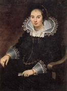 Cornelis de Vos Portrait of a Lady with a Fan oil painting artist