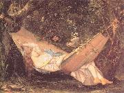 Courbet, Gustave The Hammock oil
