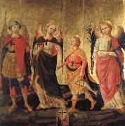 DOMENICO DI MICHELINO Tobias and the Three Archangels oil painting artist