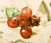 Demuth, Charles Still Life with Apples and a Green Glass France oil painting reproduction