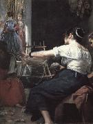 Diego Velazquez Detail of The Spinners or The Fable of Arachne oil painting picture wholesale