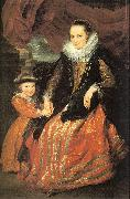Dyck, Anthony van Susanna Fourment and her Daughter oil painting artist