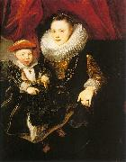 Dyck, Anthony van Young Woman with a Child oil painting artist