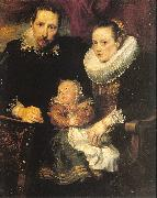 Dyck, Anthony van Family Portrait oil painting artist