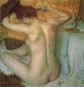 Edgar Degas Woman Combing Her Hair oil painting picture wholesale