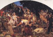 Ford Madox Brown Chaucer at the Curt of Edward III oil painting artist