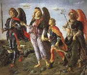 Francesco Botticini Tobias and the Tree Archangels oil painting artist