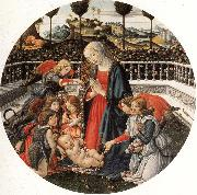 Francesco Botticini The Adoration of the Child oil painting artist