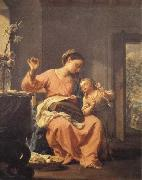 Francesco Trevisani Madonna Sewing with Child oil painting picture wholesale