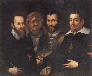 Francesco Vanni Self-Portrait with Parents and Half-brother oil painting picture wholesale