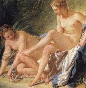 Francois Boucher Diana at the Bath(detail) oil painting picture wholesale