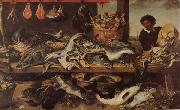 Frans Snyders Fish Stall oil painting picture wholesale