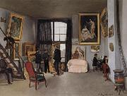 Frederic Bazille The Artist's Studio at 9 Rue de la Condamine in Paris oil painting picture wholesale