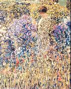 Frieseke, Frederick Carl Lady in a Garden oil painting picture wholesale