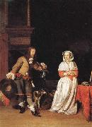Gabriel Metsu A Lady and a Cavalier oil painting picture wholesale