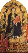 Gherardo Starnina Madonna and Child with SS.John the Baptist and Nicholas and Four Angels oil painting picture wholesale