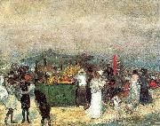 Glackens, William James Fruit Stand, Coney Island oil painting artist