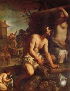 Guido Reni The Building of Noah's Ark oil painting picture wholesale