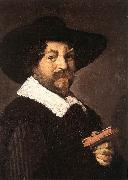 HALS, Frans Portrait of a Man Holding a Book oil painting picture wholesale