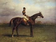 Harry Hall Mr.R.N.Blatt's 'Thorn' With Busby Up on york Bacecourse oil painting artist