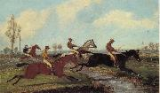 Henry Alken Jnr Over the Water,Past a Marker over the Ditch oil painting picture wholesale
