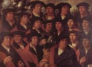 JACOBSZ, Dirck Group Portrait of the Arquebusiers of Amsterdam oil painting artist