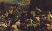 Jacopo Bassano The Israelites Drinkintg the Miraculous Water oil painting artist