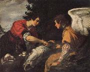 Jacopo Vignali Tobias and the Angel oil painting picture wholesale