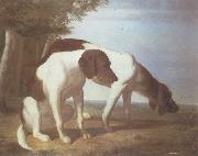 Jacques-Laurent Agasse Foxhounds in a Landscape oil painting artist